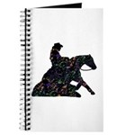 Reining Horse Sliding Stop Flowers Journal
