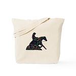 Reining Horse Sliding Stop Flowers Tote Bag