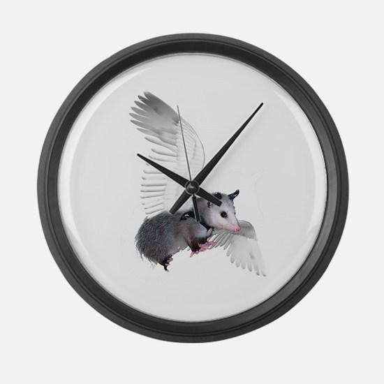 Angel Possum Large Wall Clock