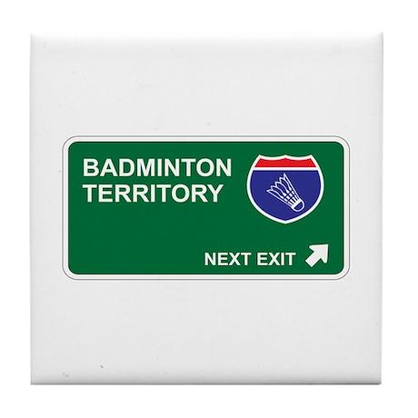 Badminton Territory Tile Coaster