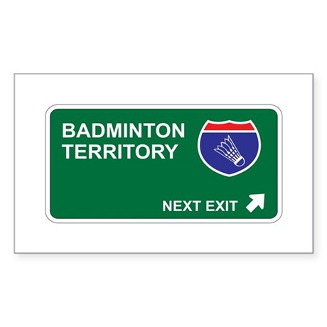 Badminton Territory Rectangle Sticker 10 pk)