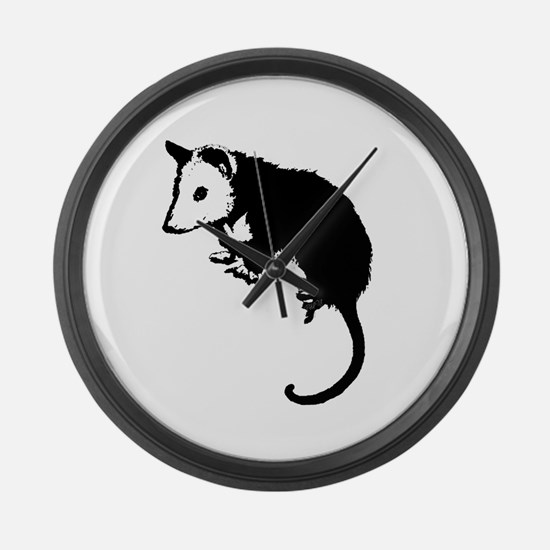 Possum Silhouette Large Wall Clock