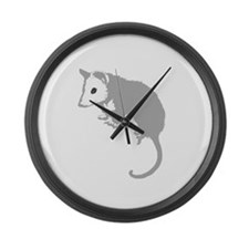 Possum Silhouette Large Wall Clock