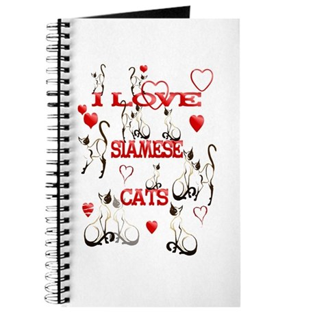 I Love Siamese Cats Journal