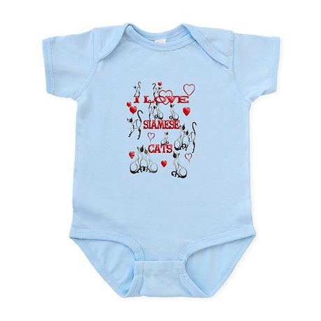 I Love Siamese Cats Infant Bodysuit
