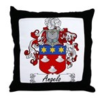Angelo Family Crest Throw Pillow