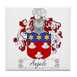 Angelo Family Crest Tile Coaster