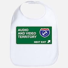 Audio, and Video Territory Bib