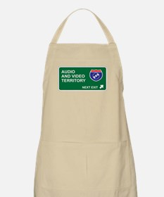 Audio, and Video Territory BBQ Apron