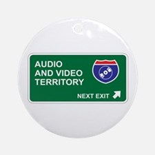 Audio, and Video Territory Ornament (Round)