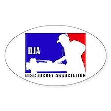 Disc jockey association Oval Decal