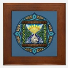 Celtic Sun-Moon Hourglass Framed Tile