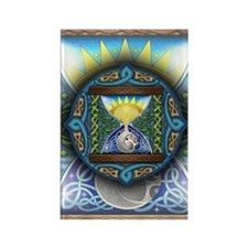 Celtic Sun-Moon Hourglass Rectangle Magnet