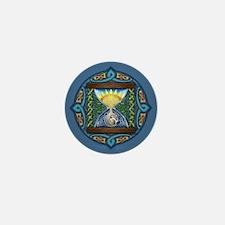 Celtic Sun-Moon Hourglass Mini Button