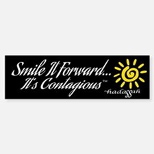 Bumper Sticker - Smile It Forward-Black Background