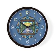 Celtic Sun-Moon Hourglass Wall Clock