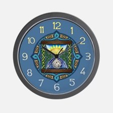 Celtic Sun-Moon Hourglass Wall Clock