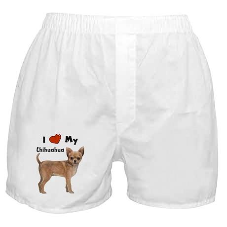I Love My Chihuahua Boxer Shorts