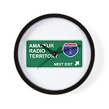 Amateur, Radio Territory Wall Clock