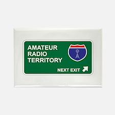 Amateur, Radio Territory Rectangle Magnet