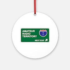 Amateur, Radio Territory Ornament (Round)