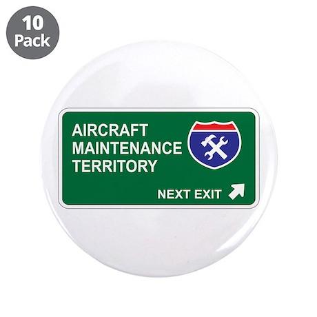 """Aircraft, Maintenance Territory 3.5"""" Button (10 pa"""
