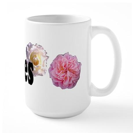 I Love Roses Large Mug