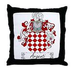 Argenti Family Crest Throw Pillow