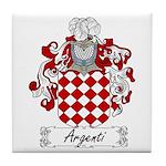 Argenti Family Crest Tile Coaster