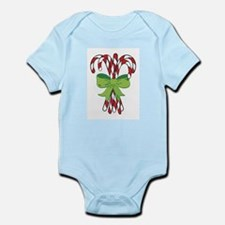 Holiday Candy Canes Infant Creeper