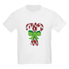 Holiday Candy Canes Kids T-Shirt