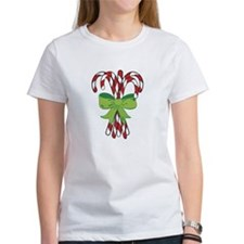 Holiday Candy Canes Tee