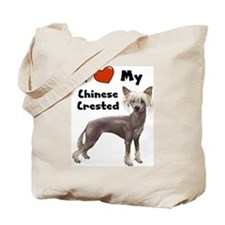I Love My Chinese Crested Tote Bag