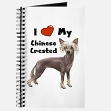 I Love My Chinese Crested Journal