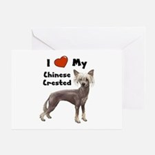 I Love My Chinese Crested Greeting Card
