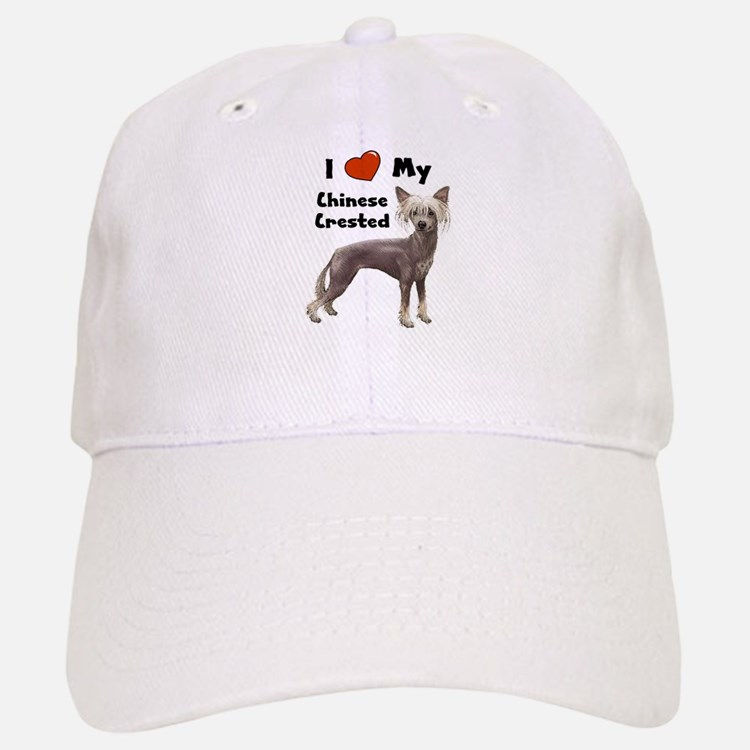 I Love My Chinese Crested Baseball Baseball Cap