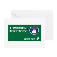 Admissions Territory Greeting Card