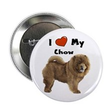"""I Love My Chow 2.25"""" Button"""