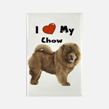 I Love My Chow Rectangle Magnet