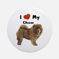 I Love My Chow Ornament (Round)