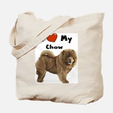 I Love My Chow Tote Bag