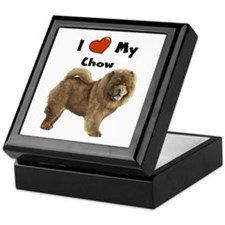 I Love My Chow Keepsake Box