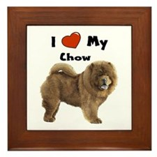 I Love My Chow Framed Tile