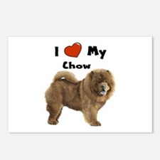 I Love My Chow Postcards (Package of 8)