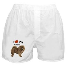 I Love My Chow Boxer Shorts