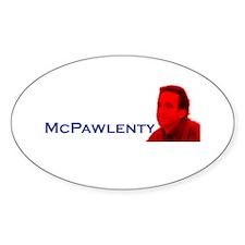 McPawlenty Oval Decal