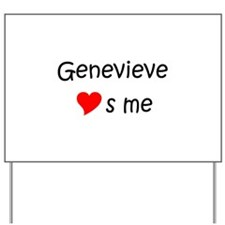 Cute Genevieve Yard Sign