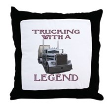 Trucking With A Legend Throw Pillow