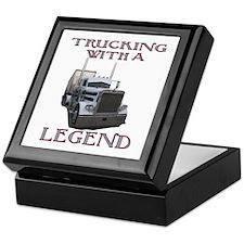 Trucking With A Legend Keepsake Box