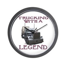 Trucking With A Legend Wall Clock
